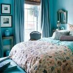 Голубые оттенки в оформлении спальни