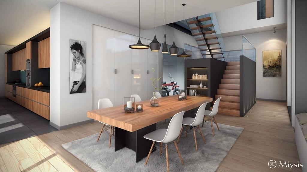Оформление интерьера столовой в доме