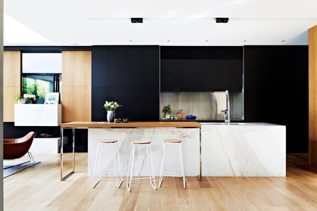 Черно-белая кухня. Artyhomes.ru
