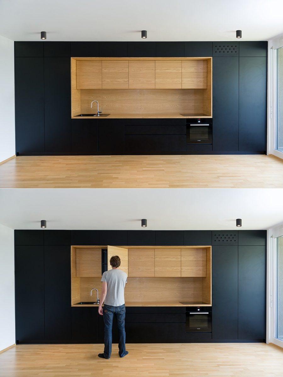 Черная кухня. Artyhomes.ru
