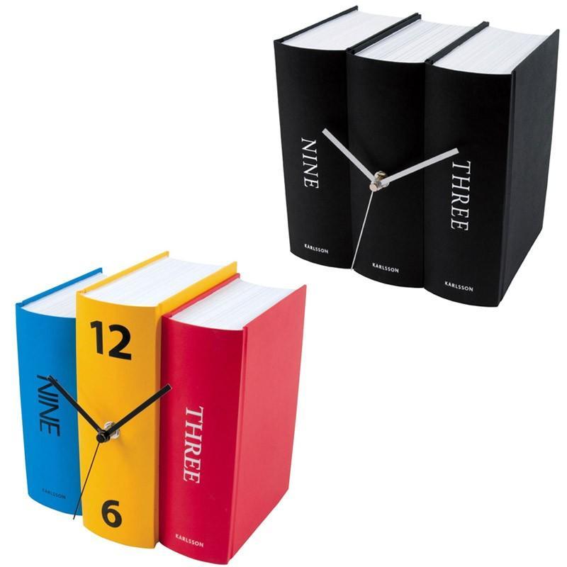 Часы настольные Book Black Paper. Бренд: Present Time