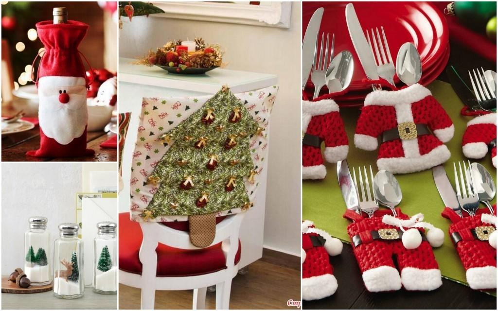 Новогоднее украшение кухни. Текстиль
