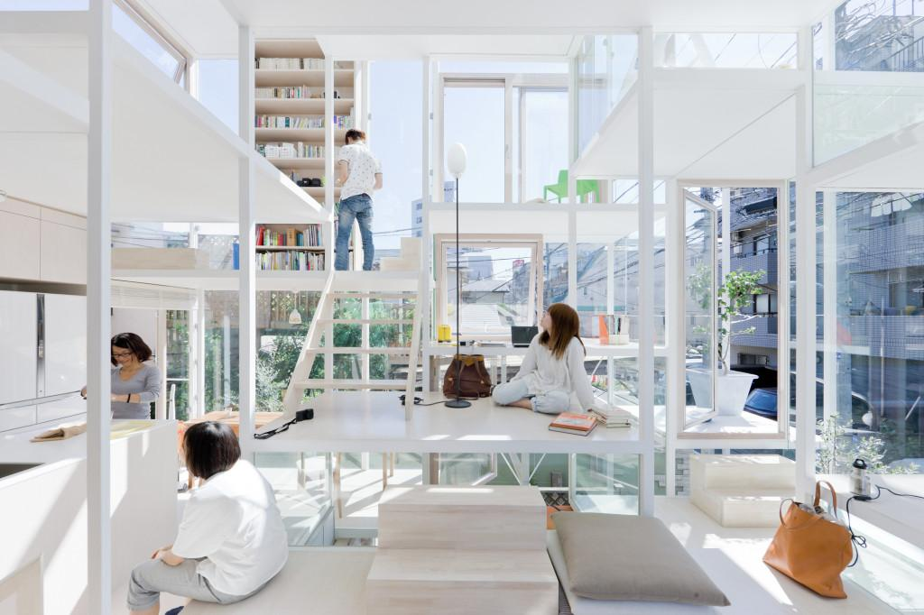 Прозрачный дом в Токио. House Sou Fujimoto