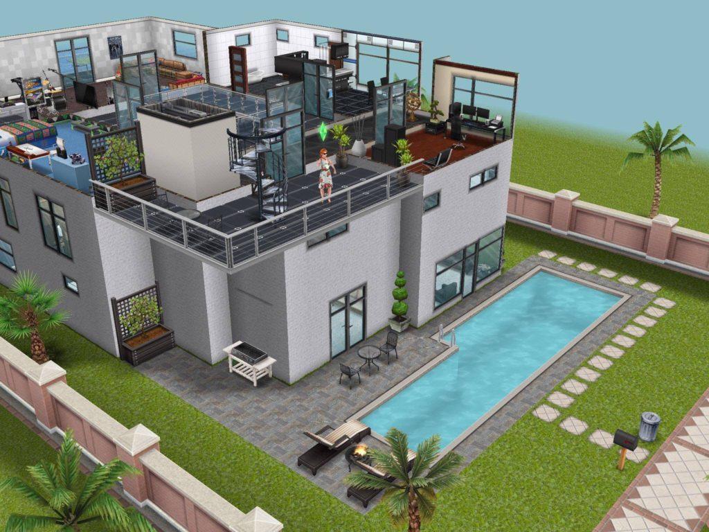 Дом из игры Sims. Пример 3d дизайна дома