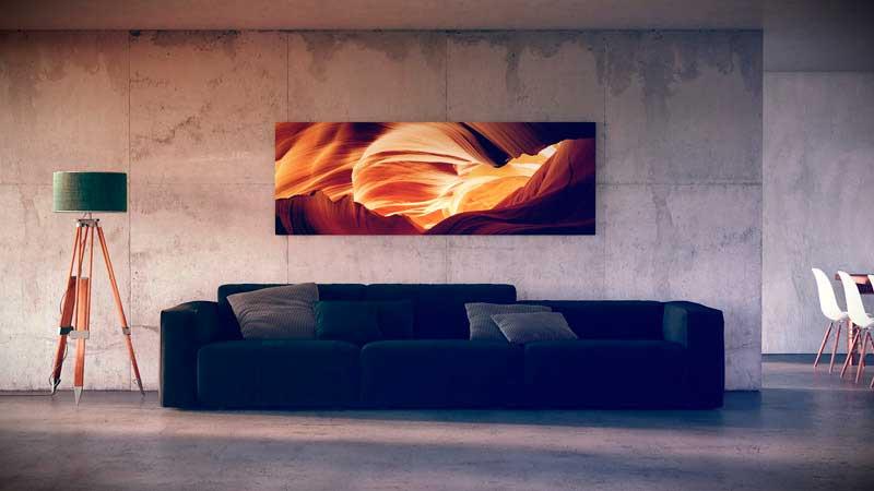 Абстрактные изображения гармонично сочетаются с hi-tech.