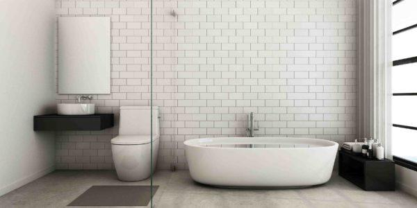 Аскетичный минимализм в ванной комнате.
