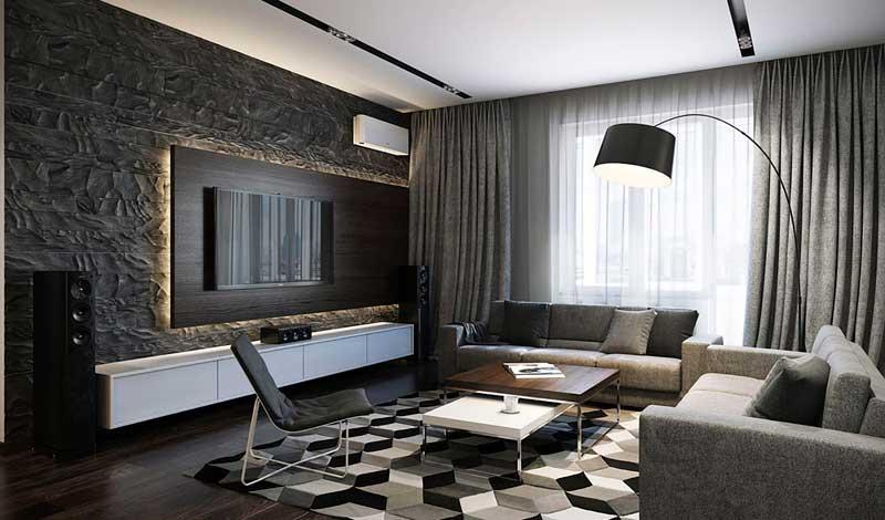 Классическое чёрно-белое сочетание подчёркивает строгость интерьера. Особенно оно будет уместно в офисных помещениях.