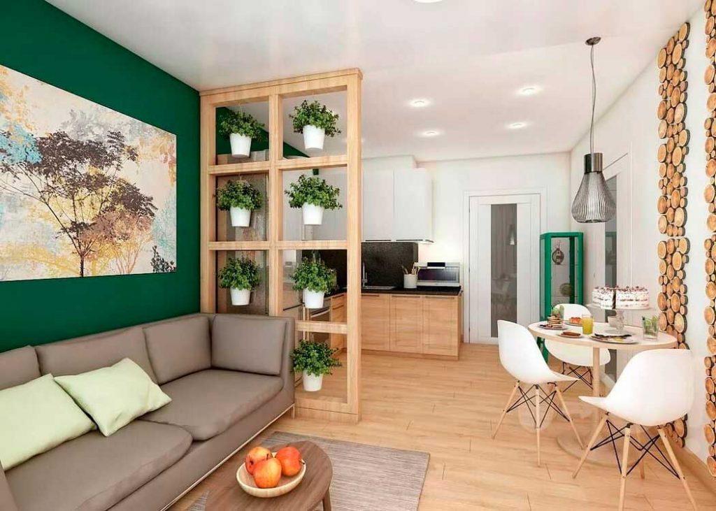 Оформление дизайна в квартире студии