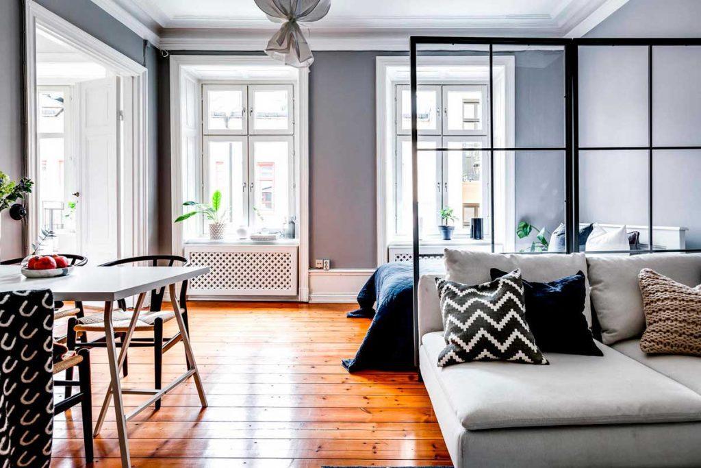 Квартира студия в скандинавском стиле
