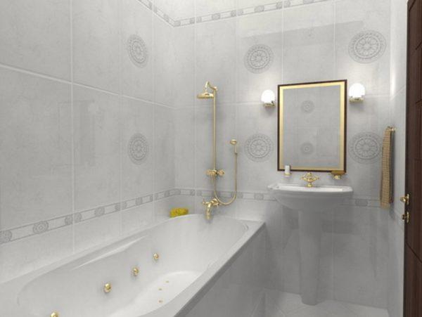 Неоклассика в ванной комнате