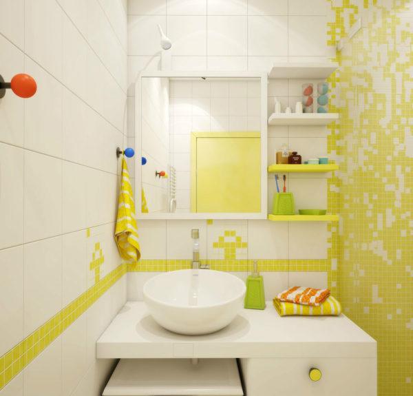 Ванна в стиле поп-арт.