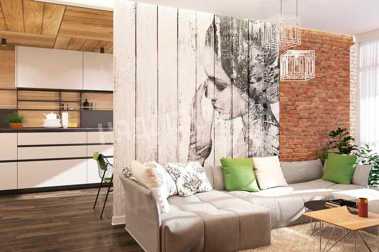 Картина на деревянных панелях.