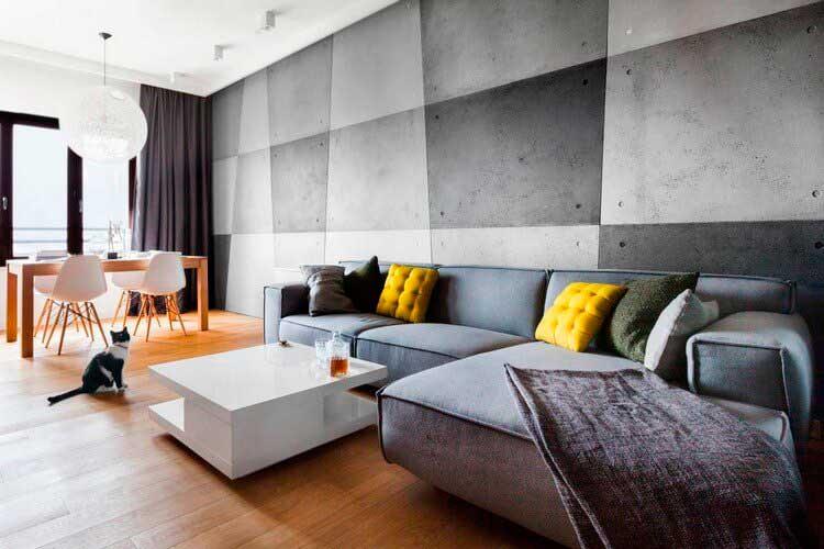 Классическая цветовая гамма loft не богата разнообразием: белый, серый, чёрный.