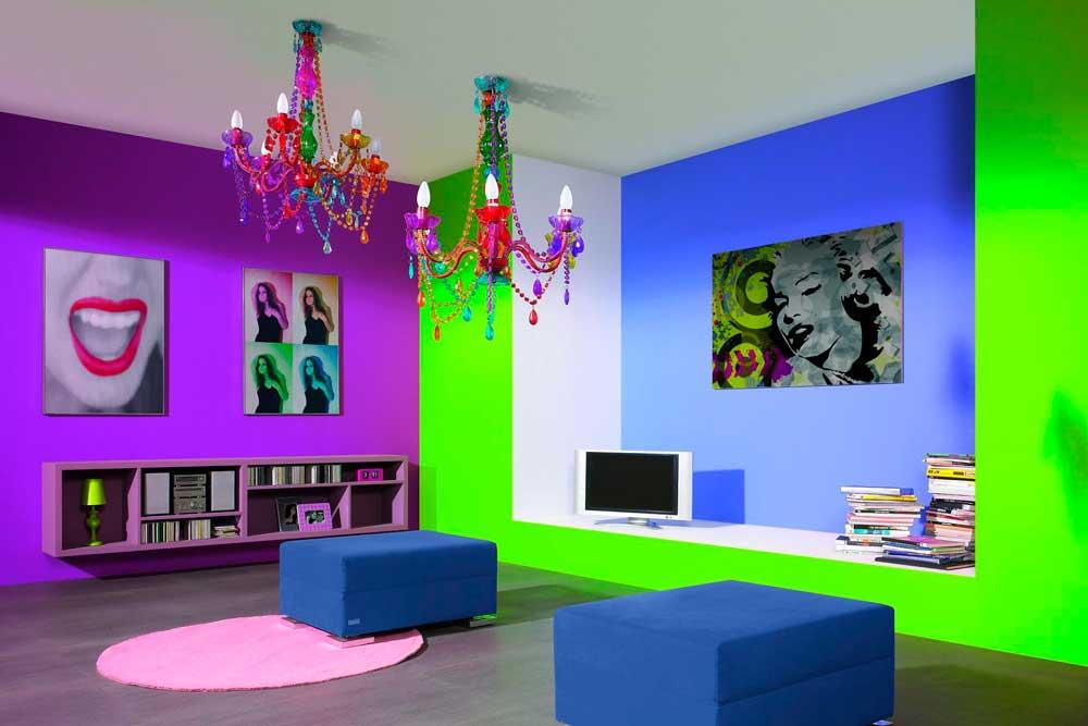 Цветовая палитра стиля поп-арт