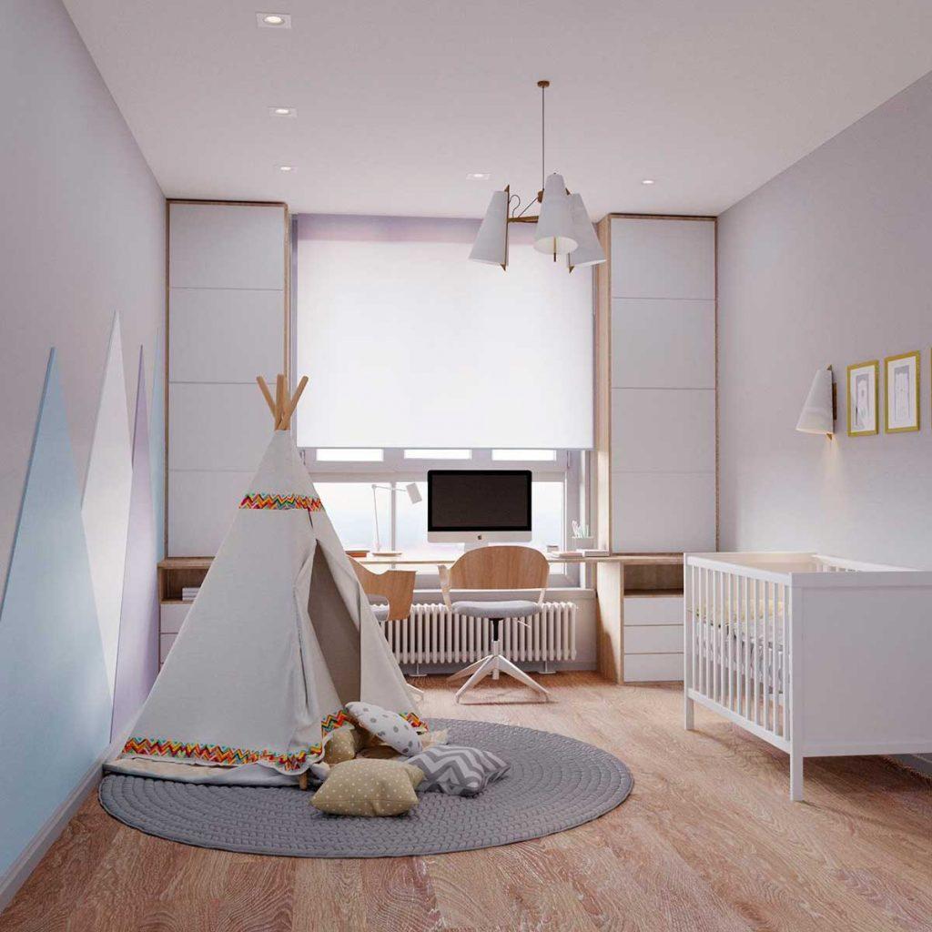Детская комната в стиле «контемпорари»