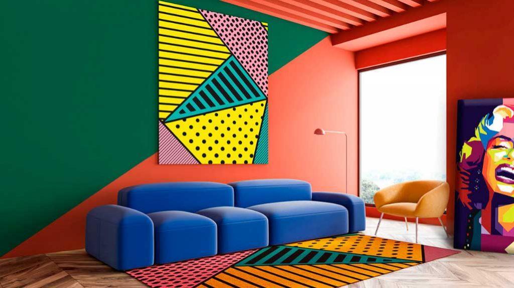 Мебель и предметы декора в стиле поп-арт