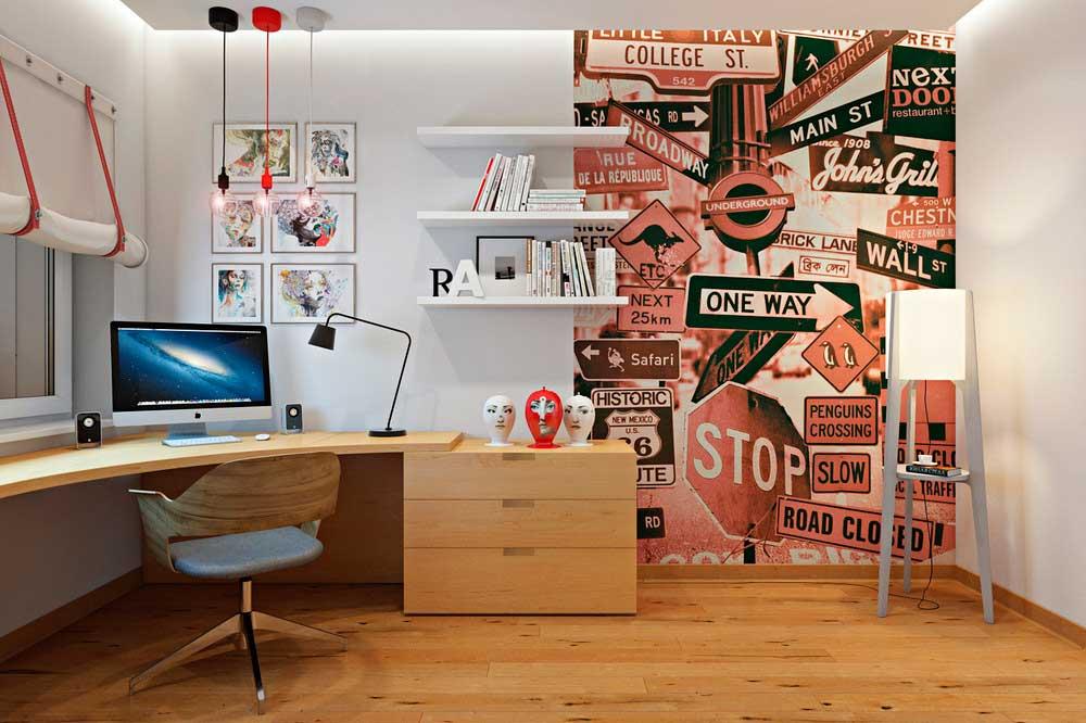 Рабочий кабинет в стиле поп-арт