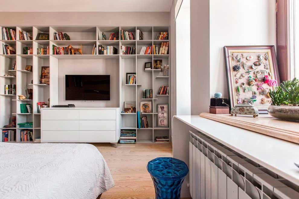 Шкафы и стелажи в интерьере «контемпорари»
