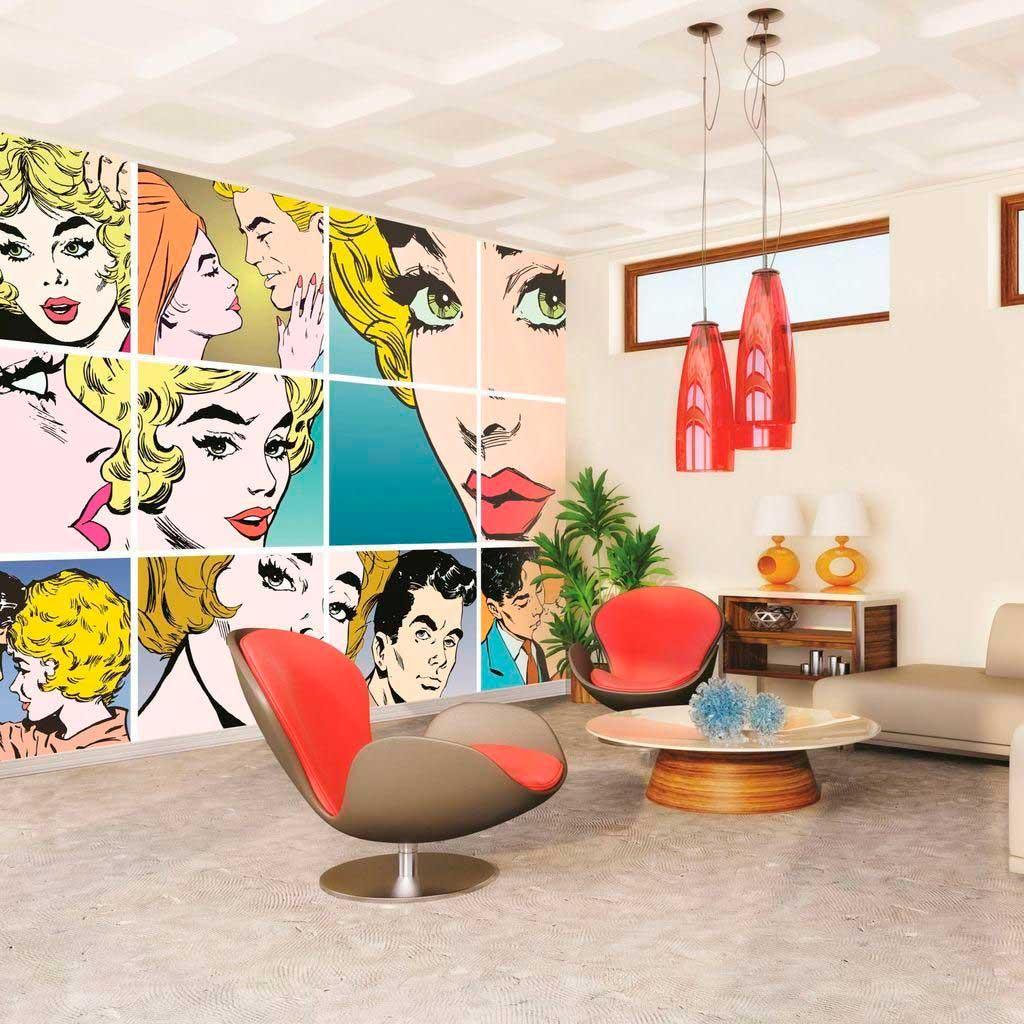 Стены в стиле поп-арт