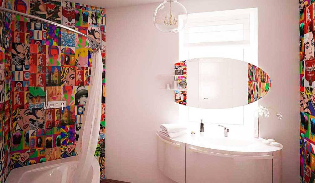 Ванная в стиле поп-арт