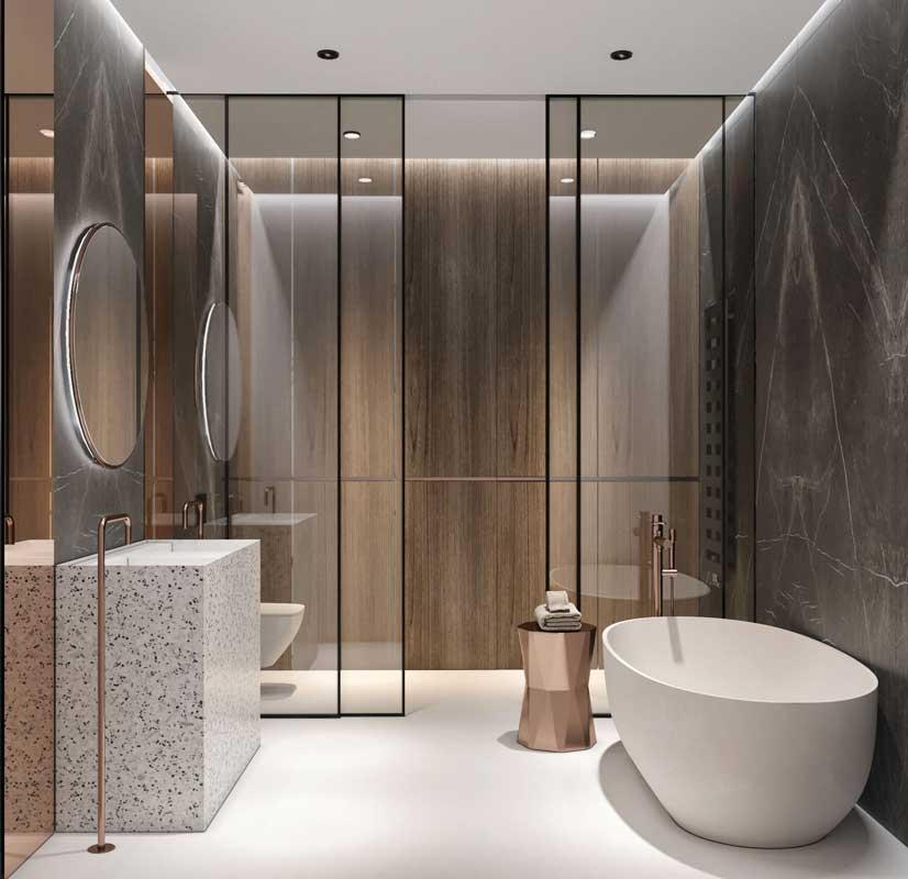 Модерн в интерьере ванной