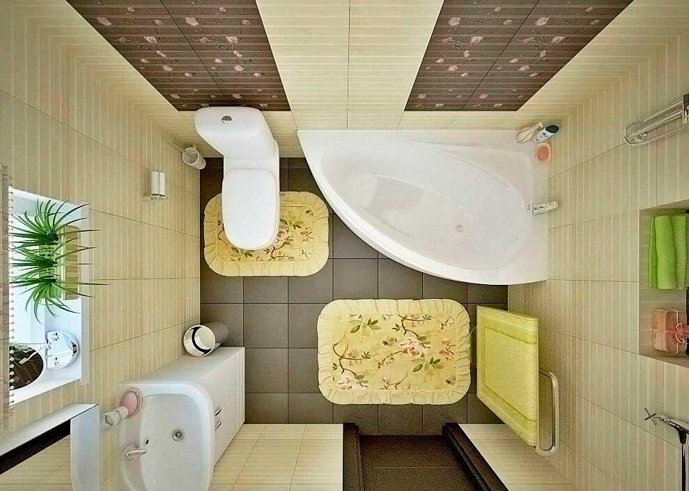 Ванная совмещенная с туалетом