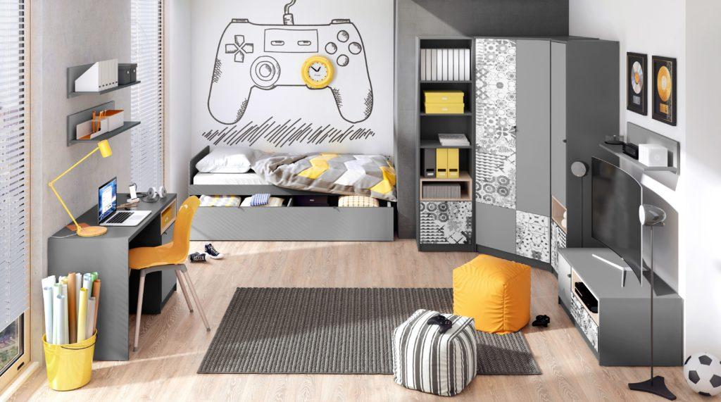 Просторная комната для мальчика-подростка
